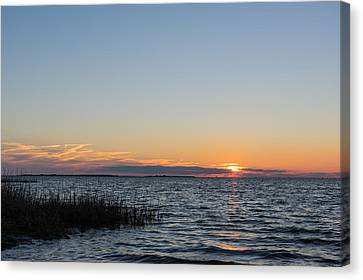 January Sunset Canvas Print by Gregg Southard