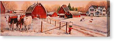 January Thaw Canvas Print by Toni Grote