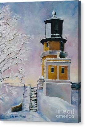 Canvas Print featuring the painting Januarys Light by Brenda Thour