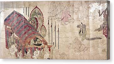Japan: Buddhist Monks Canvas Print by Granger