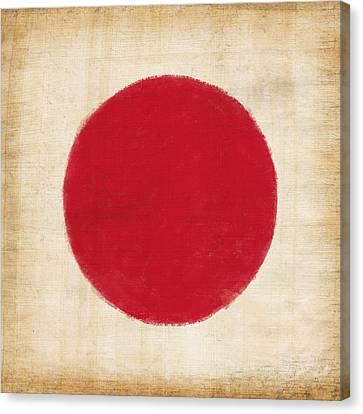Japan Flag Canvas Print by Setsiri Silapasuwanchai