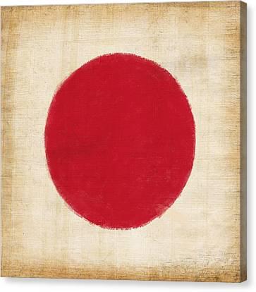 Japan Flag Canvas Print by Setsiri Silapasuwanchai