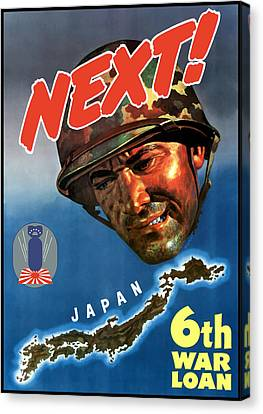 Japan Next World War 2 Poster Canvas Print by War Is Hell Store