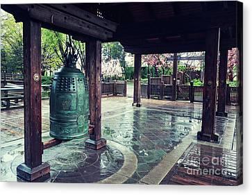 Japanese Bell In Kariya Park Canvas Print by Charline Xia