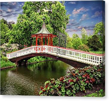 Japanese Bridge Garden Canvas Print