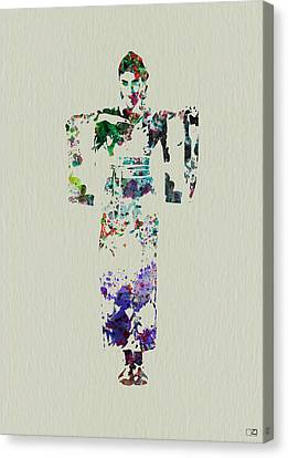 Geisha Girl Canvas Print - Japanese Dance by Naxart Studio