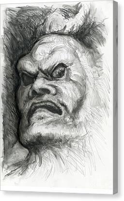 Japanese Demon Canvas Print by Tim Thorpe