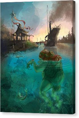 Japanese Fable 2 Canvas Print