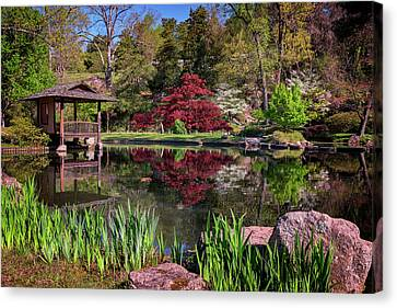 Japanese Garden At Maymont Canvas Print by Rick Berk