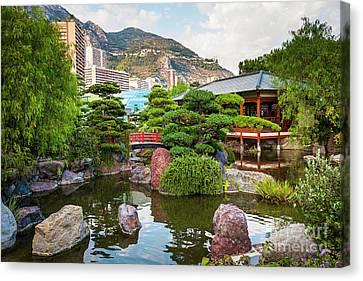 Japanese Garden In Monte Carlo Canvas Print