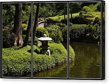 Japanese Garden Triptych Canvas Print