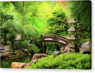 Canvas Print - Japanese Garden - Water Under The Bridge by Mike Savad