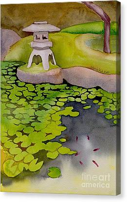 Canvas Print featuring the painting Japanese Garden by Yolanda Koh