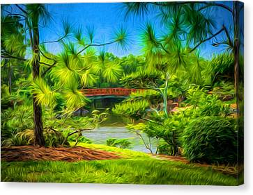 Japanese Gardens  Canvas Print by Louis Ferreira