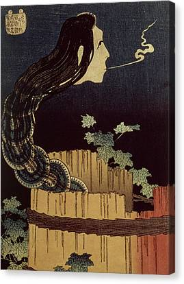 Ghost Story Canvas Print - Japanese Ghost by Hokusai