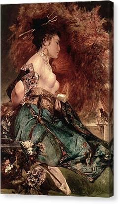 Japanese Girl Canvas Print by Hans Makart