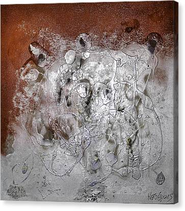 Canvas Print featuring the painting Japanese Impressions#2 by Karo Evans