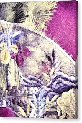 Japanese Iris - Kimono Series Canvas Print by Susan Maxwell Schmidt