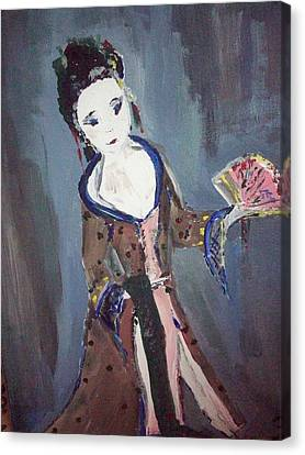 Japanese Lady Canvas Print by Judith Desrosiers