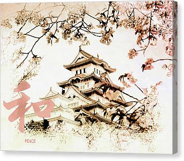 Japanese Peace House Canvas Print