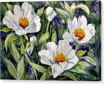 Japanese Peonies Canvas Print