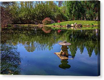 Japanese Reflections At Maymont Canvas Print by Rick Berk