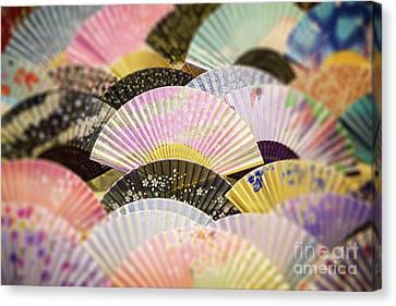 Japanese Souvenir Fans Canvas Print