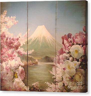 Japanese Spring Canvas Print by Sorin Apostolescu