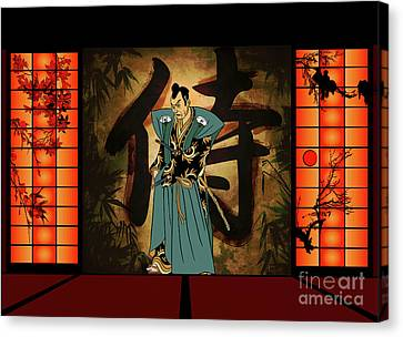 Canvas Print featuring the drawing Japanese Style by Andrzej Szczerski
