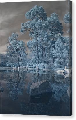 Canvas Print featuring the photograph Japanese Tea Garden Infrared Center by Joshua House
