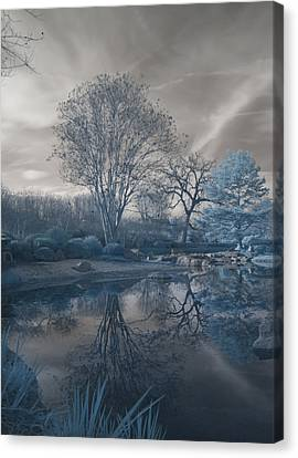 Canvas Print featuring the photograph Japanese Tea Garden Infrared Left by Joshua House