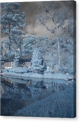 Japanese Tea Garden Infrared Right Canvas Print by Joshua House