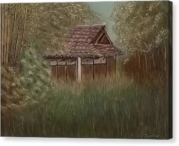 Bamboo House Canvas Print - Rustic Japanese Tea House In Sydney by Junko Schettino