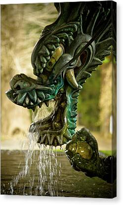 Japanese Water Dragon Canvas Print by Sebastian Musial