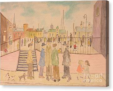 Japanese Whispers In Respect Of Lowry Canvas Print by Sawako Utsumi