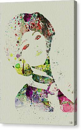 Japanese Woman Canvas Print by Naxart Studio