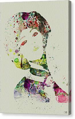 Japanese Woman Canvas Print by Naxart Studio