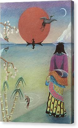 Japanese Woman Canvas Print by Sally Appleby
