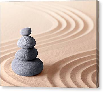 Japanese Zen Meditation Garden Canvas Print by Dirk Ercken