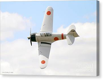 Canvas Print featuring the photograph Japanese Zero by Larry Keahey