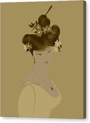 Japanise Girl Canvas Print by Emna Bonano