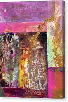 Jaquar Gold Canvas Print by Pat Saunders-White