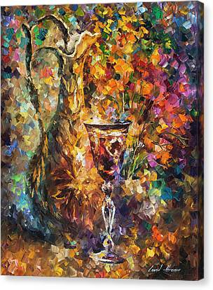 Jar Of Wine Canvas Print by Leonid Afremov