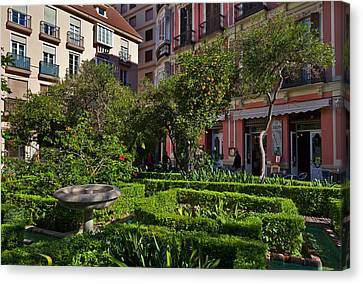 Malaga Canvas Print - Jarden Cafetaria Bside The Garden by Panoramic Images