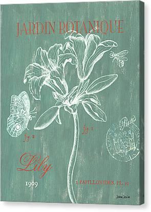 Jardin Botanique Aqua Canvas Print
