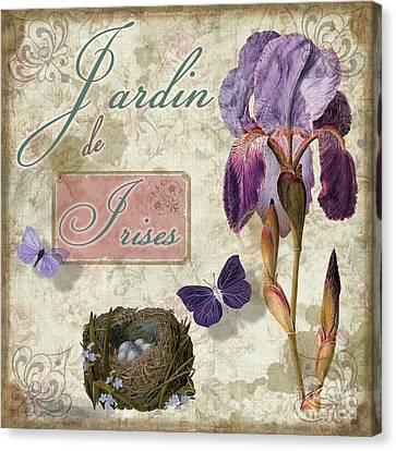 Jardin De Irises Canvas Print by Mindy Sommers