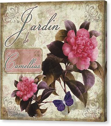 Jardin De Roses Canvas Print by Mindy Sommers