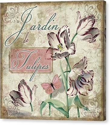Jardin De Tulipes Canvas Print by Mindy Sommers