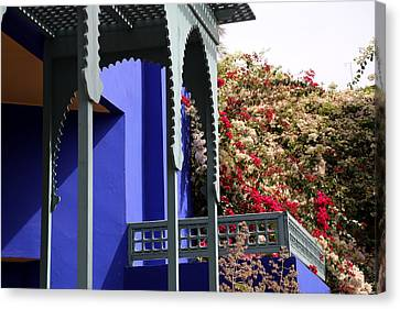Canvas Print featuring the photograph Jardin Majorelle 3 by Andrew Fare