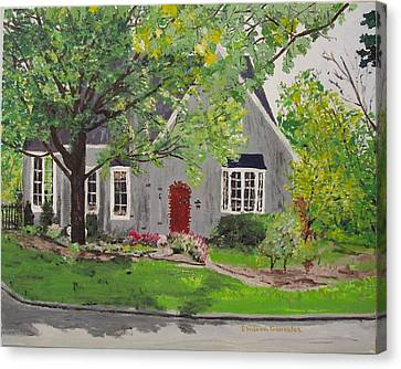 Jared House Canvas Print by Sharon  De Vore
